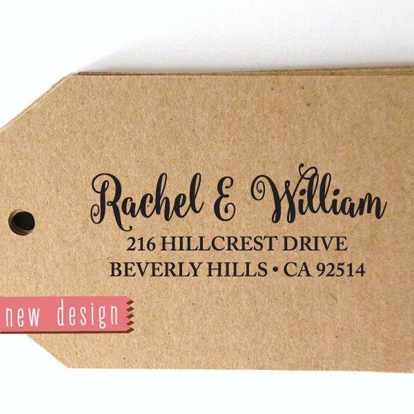 Mariage - CUSTOM pre inked address STAMP from USA, eco-friendly custom address stamp, custom stamp, rsvp stamp, wedding stamp, personalized stamp b589