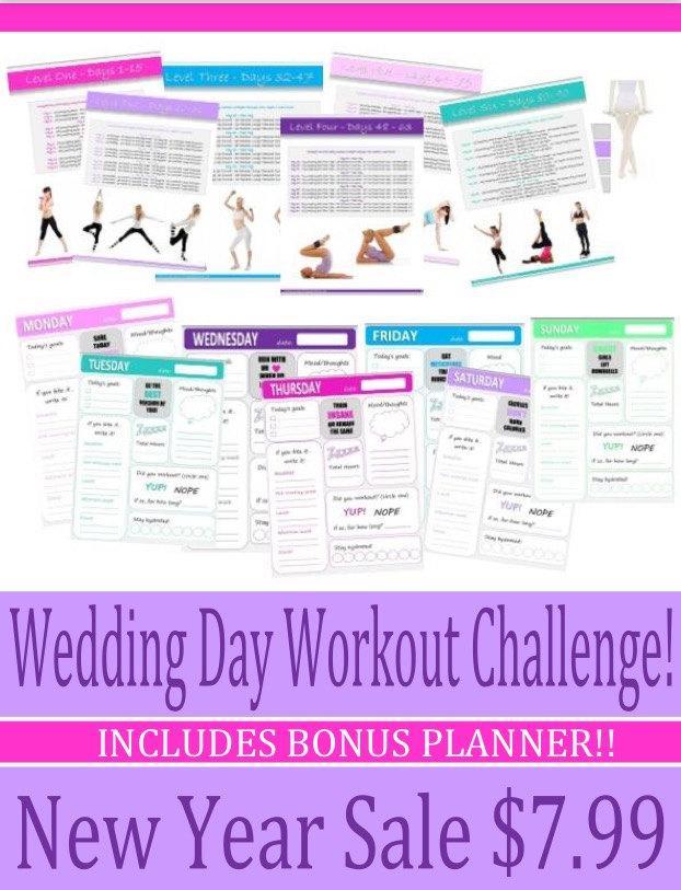 زفاف - Printable Sweating For The Wedding 12 Week Bride/Bridal Party Fitness Challenge & Planner! INSTANT DOWNLOAD + FREE Weight Management Guide!!
