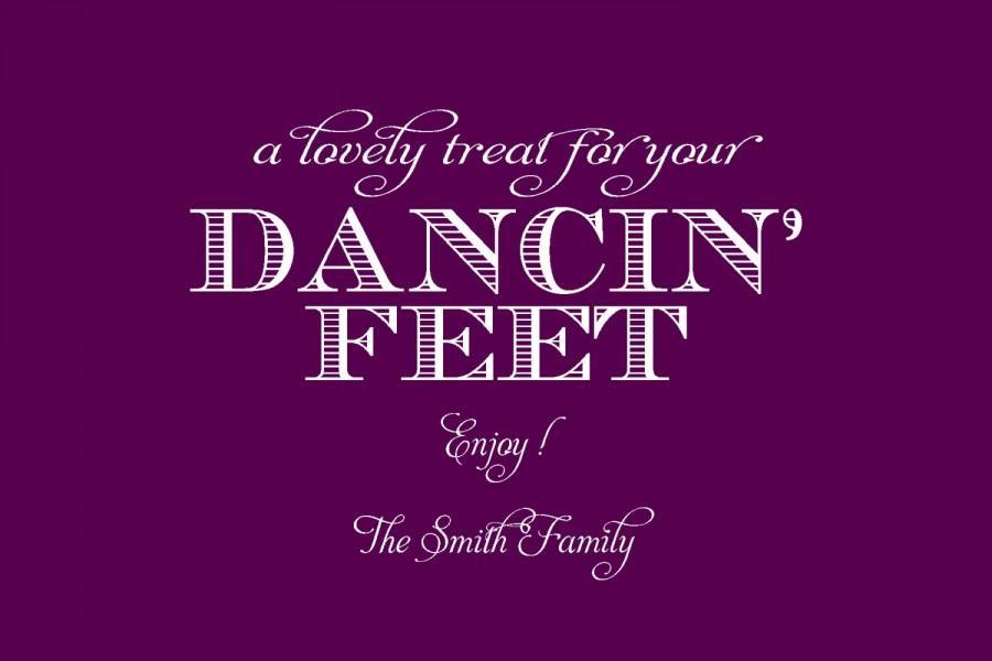 زفاف - Printable Dancin' Feet Wedding Sign 4x6 or 5x7
