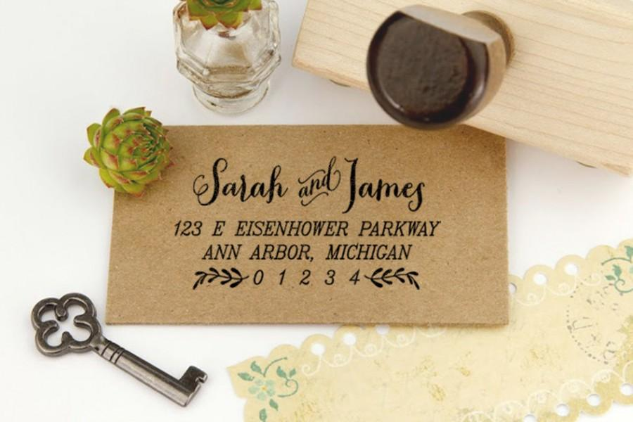 Return address stamp housewarming gift stamp diyer gift stamp diy wedding rubber stamp - Best return gifts for housewarming ...