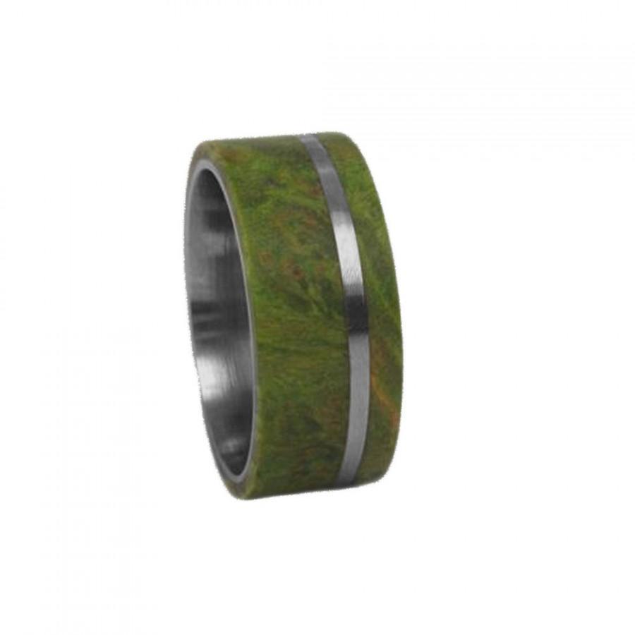 wood inlay ring wooden wedding band 8mm Mens Wedding Band Mens Wood Wedding Band Mahogany Wood Inlay Wood Ring Mens Wood Ring Gift For Him Unique Anniversary Ring Band