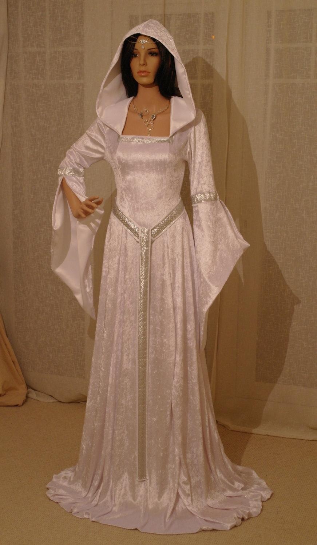 Hochzeit - ELVEN DRESS, medieval dress, renaissance dress, custom made