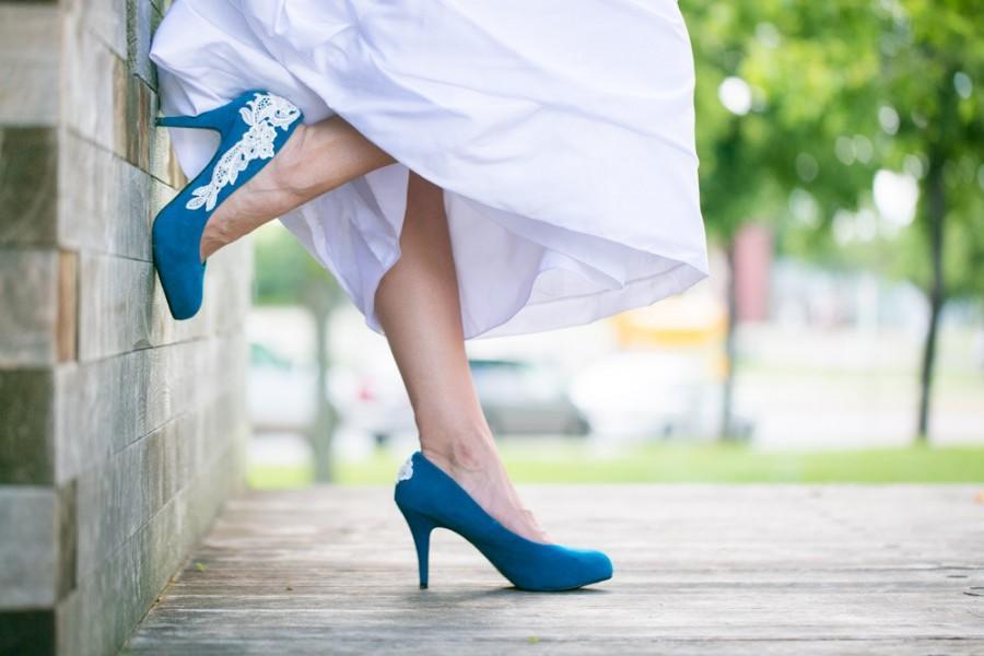 757d5d571c1 Teal Wedding Shoes - Blue Wedding Heels