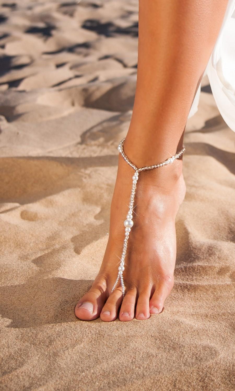 Wedding - Wedding barefoot sandals-Bridesmaid barefoot sandals-Bridesmaid jewelry-Beach wedding-Destination wedding-Bridesmaid Accessory-Beach sandal