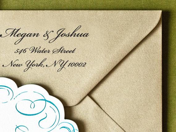 "Wedding - Personalized Eco Friendly Self Inking Stamp Wedding Gift, Return Address, Etsy Shop Labels ""Name65"""