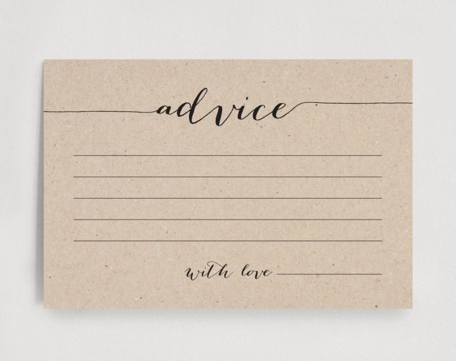 wedding advice card advice printable advice template marriage