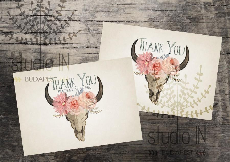 Mariage - Thank you sign printable,wedding thank you sign,bohemian thank you printable,rustic thank you sign,rustic wedding printable,INSTANT DOWNLOAD
