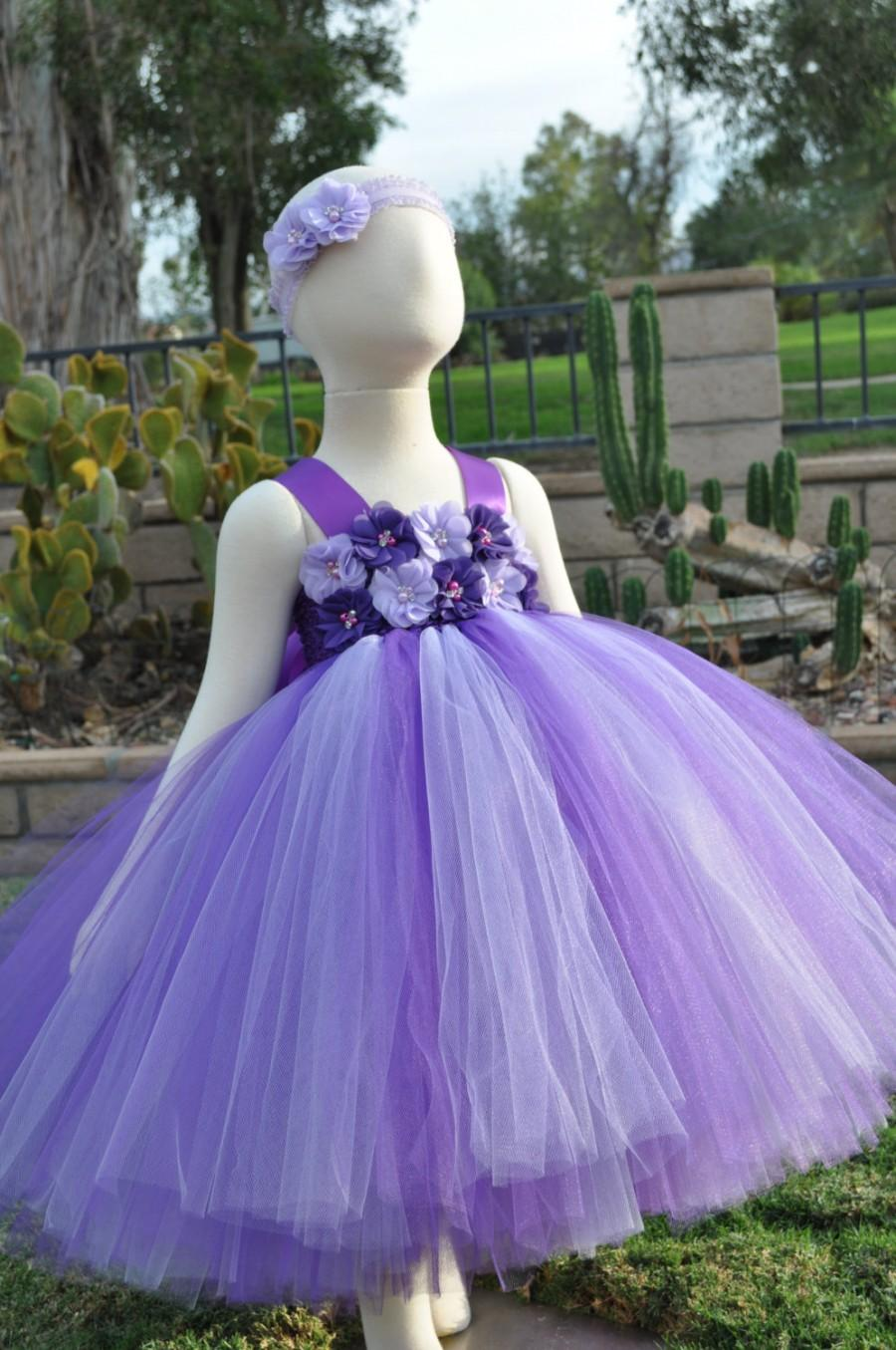 Purple Lavender Flower Girl Dress, Purple Lavender Toddler Dress ...