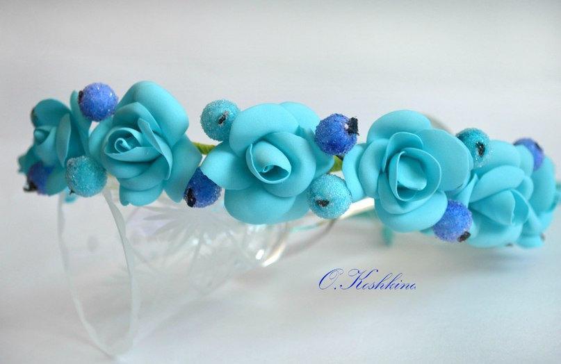 Sky Blue Hair Accessories Blue Wedding Flower Crown
