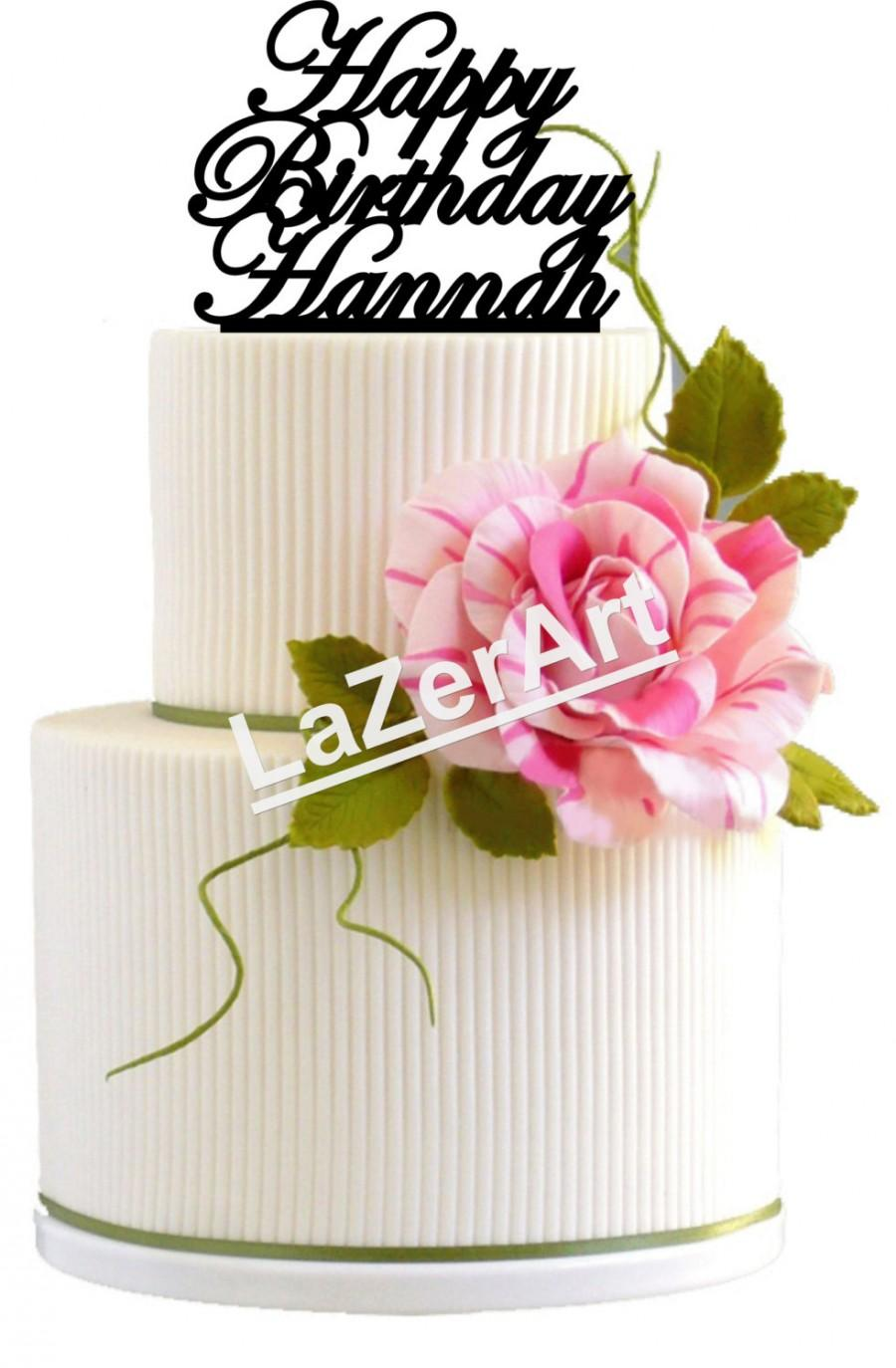 Custom Name Happy Birthday Cake Topper
