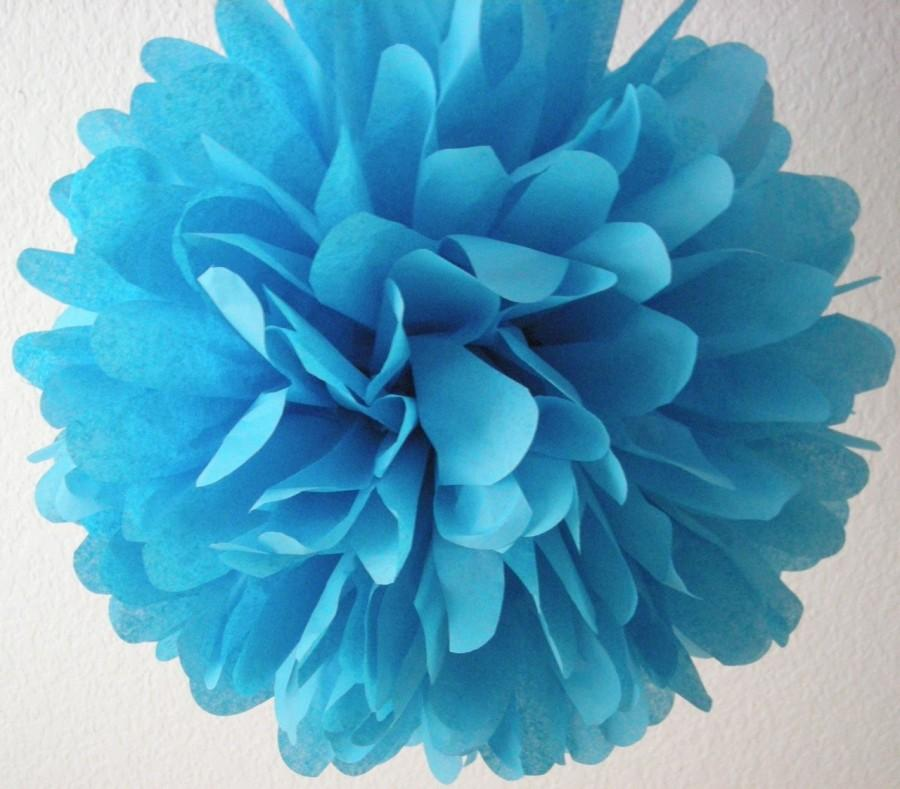 Magnificent Turquoise 1 Tissue Paper Pom Pom Wedding Decorations Home Interior And Landscaping Ologienasavecom