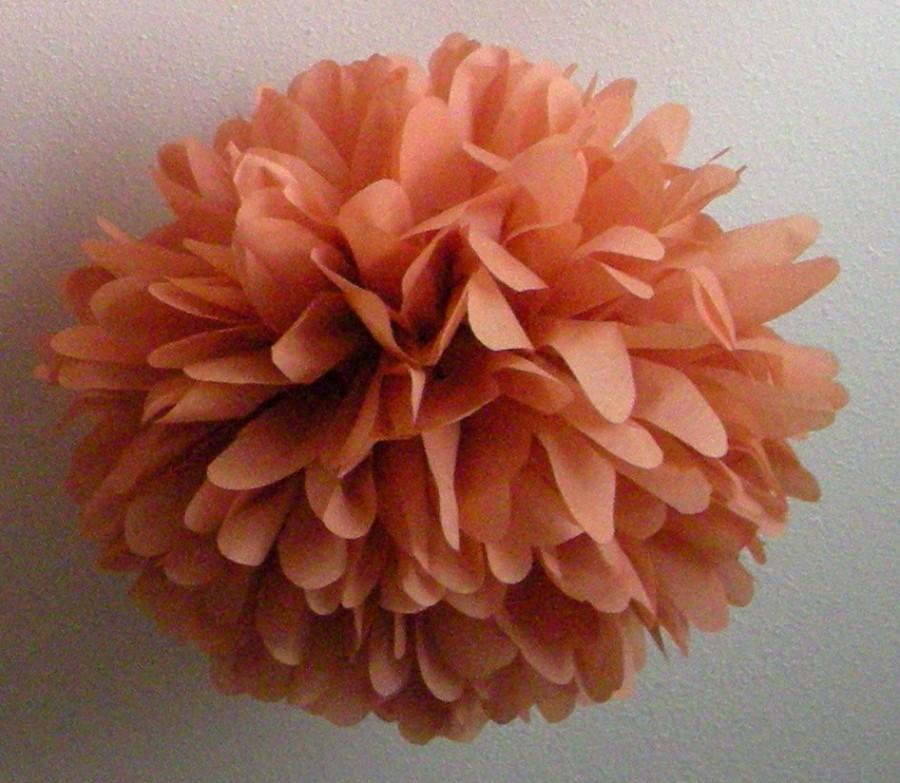 Hochzeit - Terra Cotta ... 1 tissue paper pom // aisle marker // wedding ceremony // diy // budget wedding // party decorations