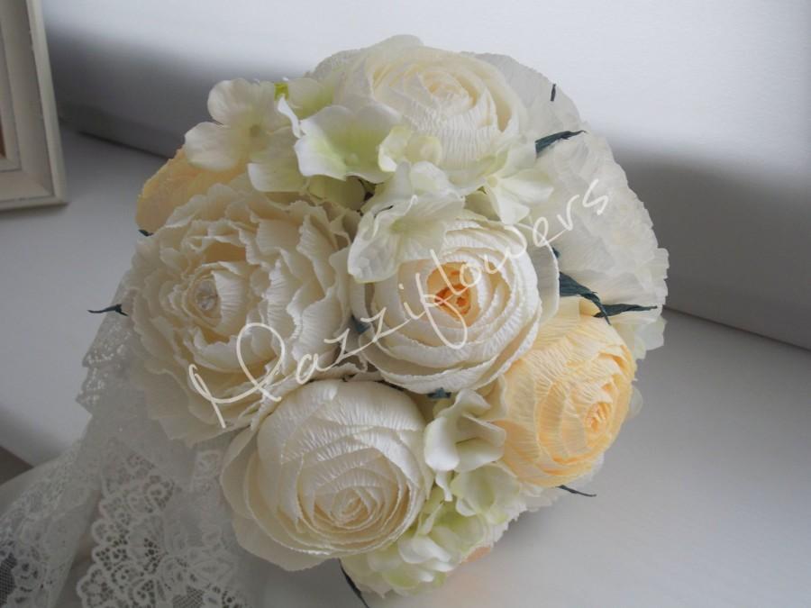 Wedding Bouquet, Bridal Bouquet,paper Flower Bouquet,wedding Flower ...