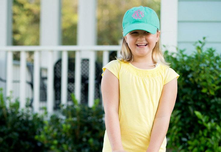 Wedding - Kids Monogrammed Baseball Cap - 4 Colors Available - Order Early, These Sold our Last Year! Great Easter Gift!