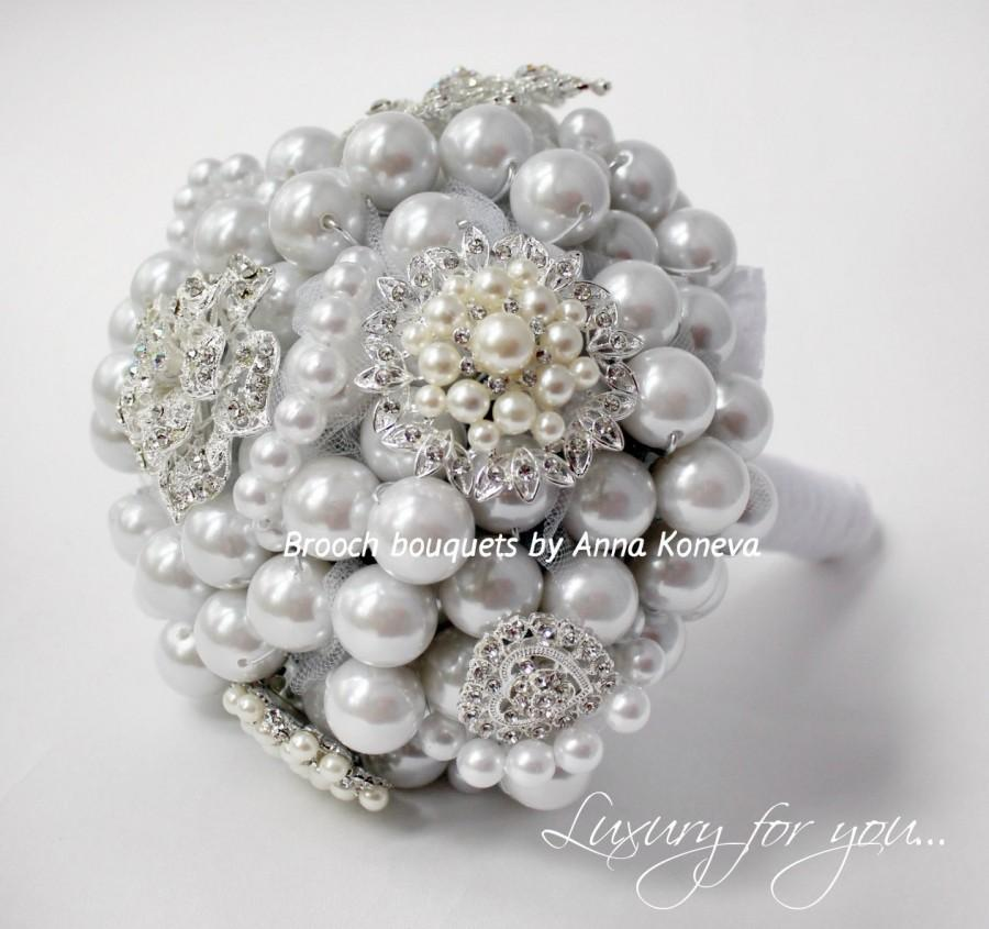 Pearl Brooch Bouquet Wedding Brooch Beach Wedding Bouquet Bridal
