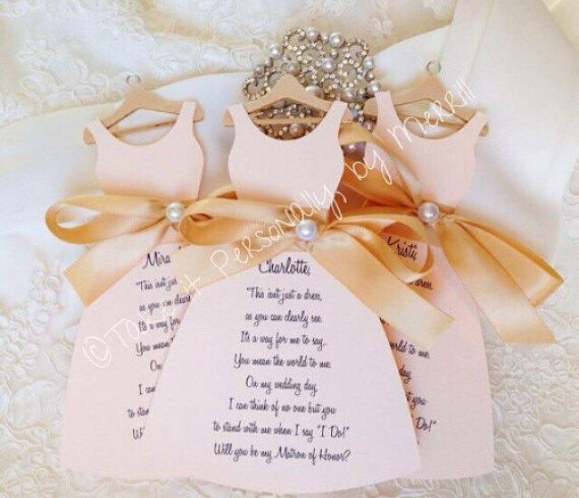 زفاف - Will you be my bridesmaid cards wedding party invitations will you be my maid of honor cards