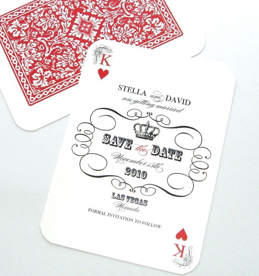 Las Vegas Wedding Save The Date Casino Invitation Playing Card – Playing Card Invitation
