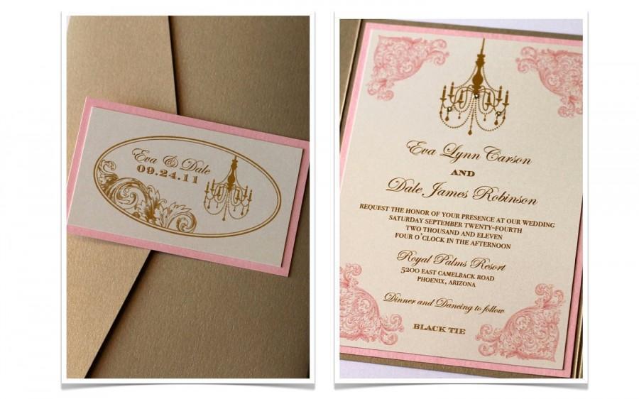 Eva Vintage Wedding Invitation - Vintage Wedding Decor - Custom ...