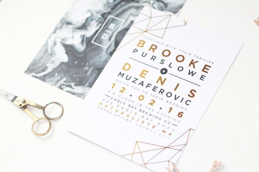 Wedding - Prisms + Marbles Invitation Set