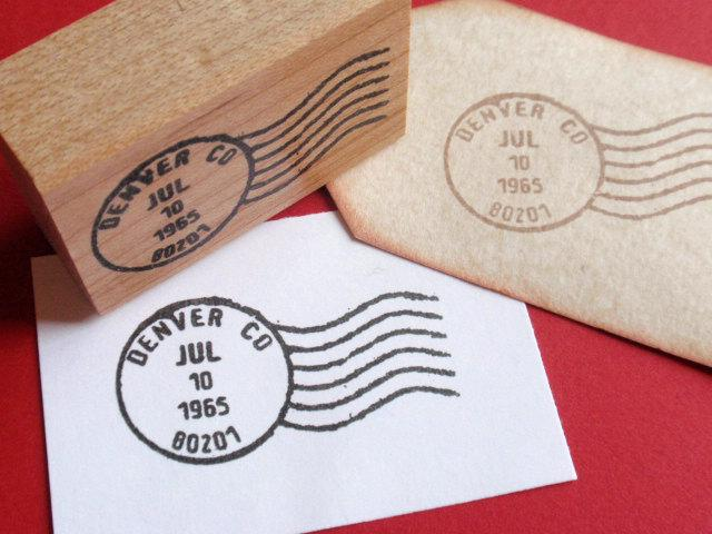 Wedding - Customized Letter Postmark Postage Cancellation Mark Rubber Stamp  - Weddings, Births, Parties - Handmade by BlossomStamps