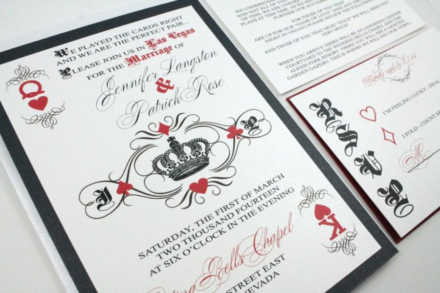 Las Vegas Wedding Invitation Wording: Las Vegas Wedding Invitations Fun And Unique Playing Card