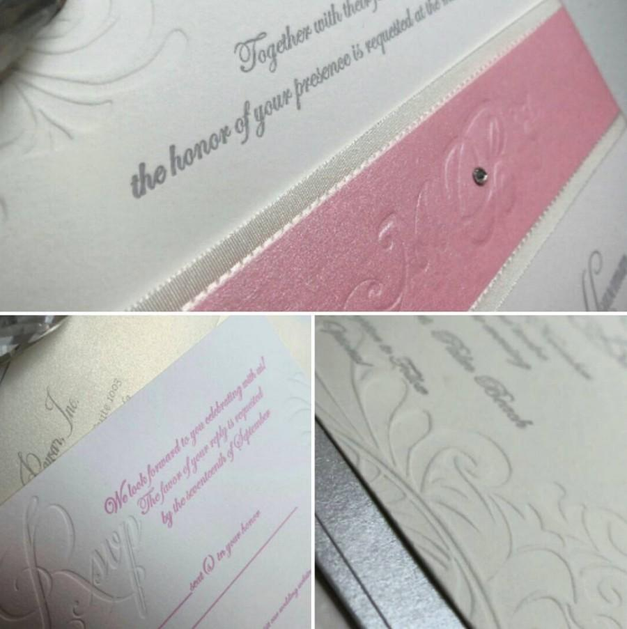 زفاف - The Mina Suite, tyingtheknotnyc, custom, letterpress wedding invitation,Deposit Listing