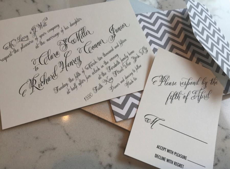 زفاف - The Clara Suite, tyingtheknotnyc, custom, offset digital printed wedding invitation, Deposit Listing