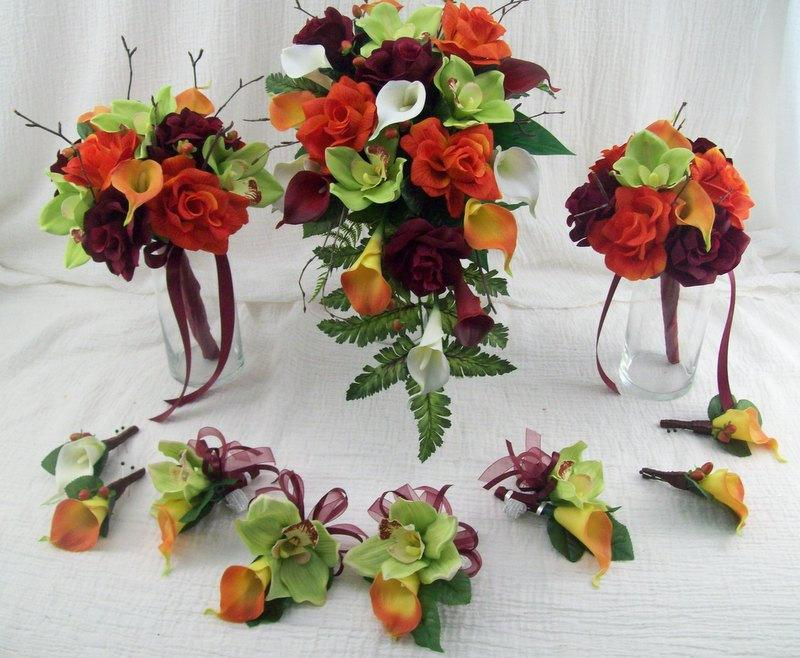 Fall Wedding Flowers Destination Wedding Cascade Bridal Bouquet ...