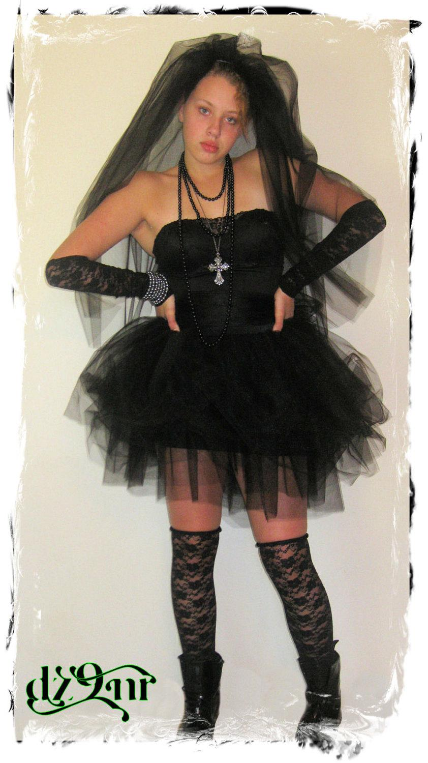 0d7fd5e556 Luxurious Black Rebel Adult Tulle Tutu n Corset- Great for Bachelorette/Bridesmaid  Party Fancy Dress Wedding Gown-80's Prom Mini