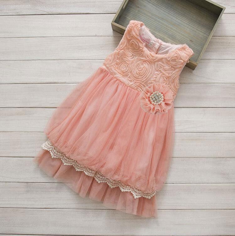 Свадьба - Peach Coral Flower Girl Dress
