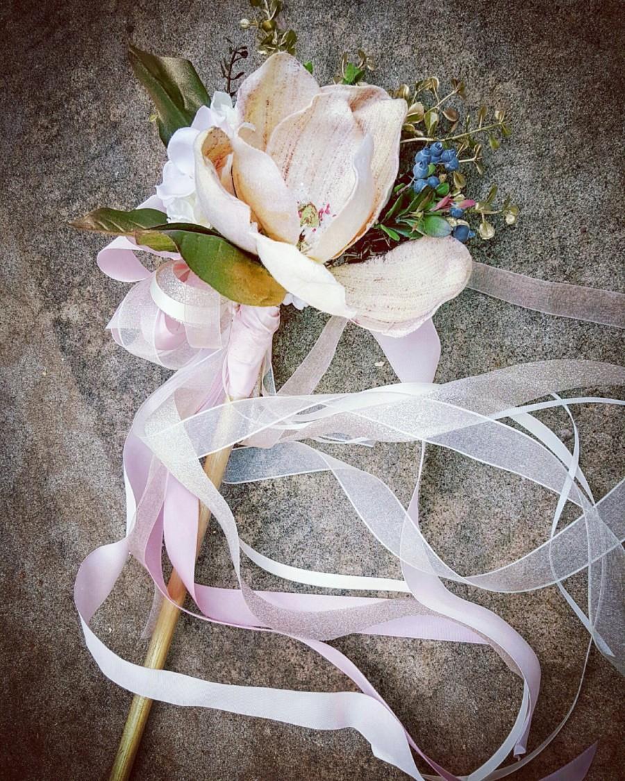 Свадьба - Magnolia Blush Flower Wand Custom Order