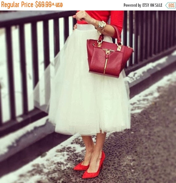 زفاف - ON SALE Adult Tulle Skirt , Ivory tulle skirt , Ladies tutu dress, Custom dress, Tea length tulle skirt ,engagement tulle skirt, Wedding tul