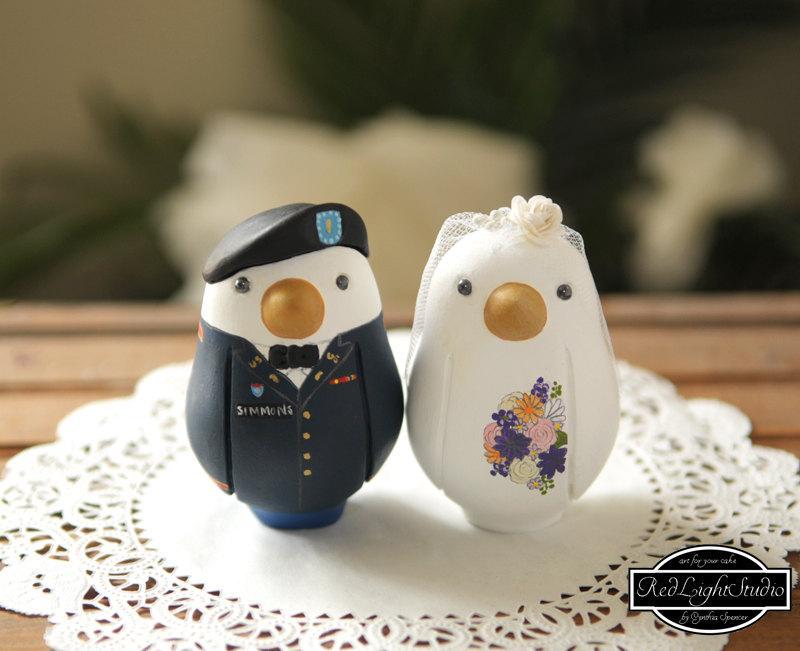 Свадьба - Military Wedding Cake Topper - Medium