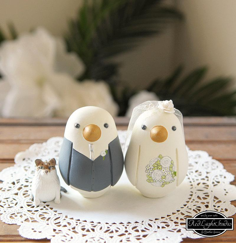 Mariage - Love Bird Cake Toppers - Medium