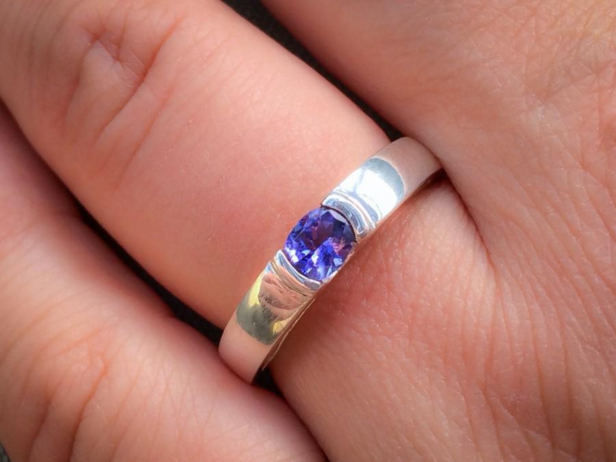 Wedding - TANZANITE RING Gold Tanzanite Engagement Ring Violet Blue Tanzanite Ring Blue Engagement Ring Gift For Her Tanzanite Gold Ring