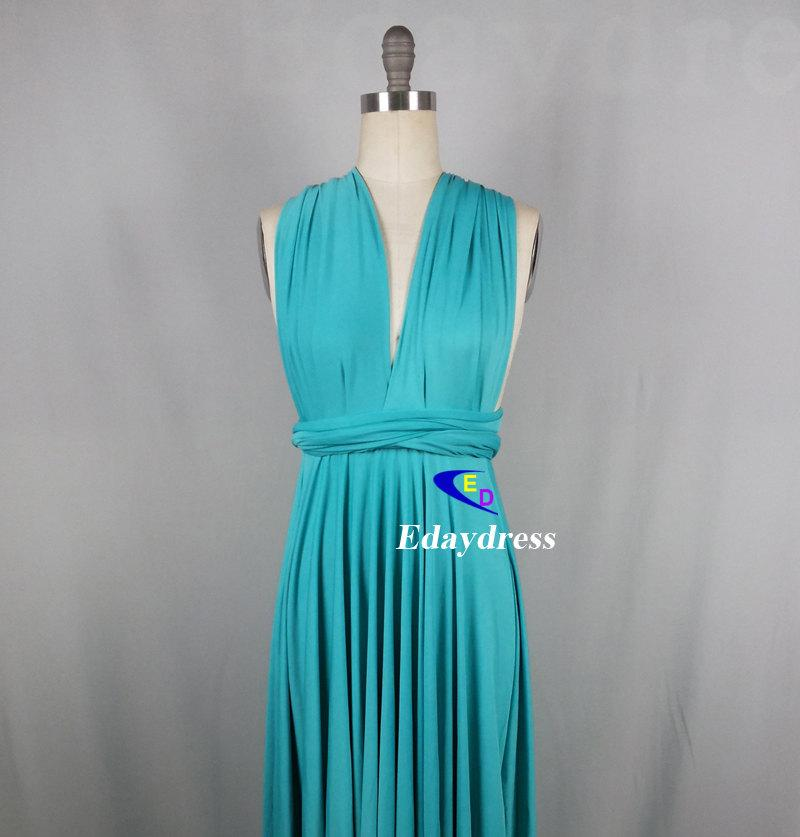 Wedding - Bridesmaid Dress Infinity Dress Blue Floor Length Wrap Convertible Dress Wedding Dress