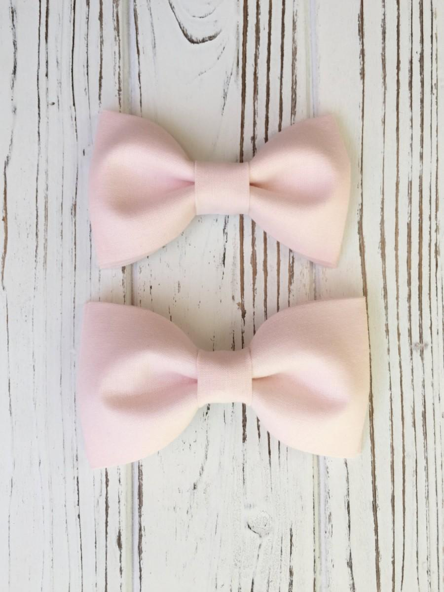 53d9ba8b7251 Blush pink bowtie for groom, groomsmen, ring boys - Daddy and son set-baby,  toddler, boy's bowties- Ring bearer's bow tie- blush bow ties