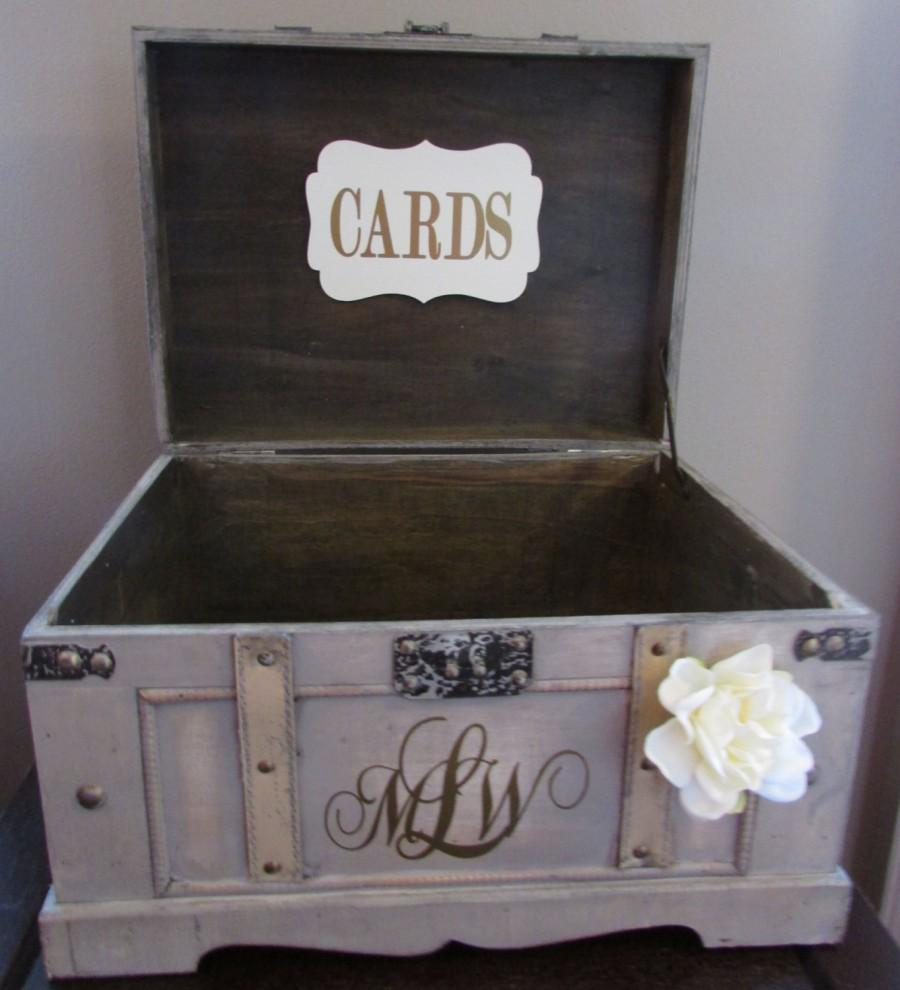 Vintage Wedding Card Box Extra Large Rustic Wedding Card Box – Wedding Box for Cards