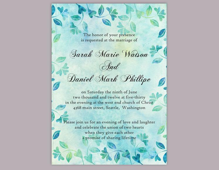 Diy Rustic Wedding Invitation Template Editable Word File Download