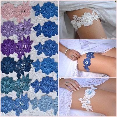 Свадьба - Choose Your Color, Wedding  Garter, Lace Wedding Garter, Bridal Garter Set, Color Bridal Garter, Lace Garter Set, Handmade Bridal, Color