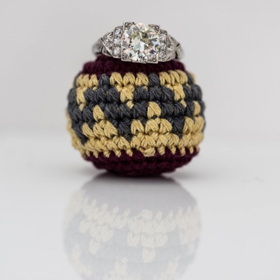 زفاف - LAYAWAY PAYMENT #4 of 5 - Antique Art Deco Platinum Old European Diamond Engagement Ring - 1.64ct Diamond Weight VEG #3