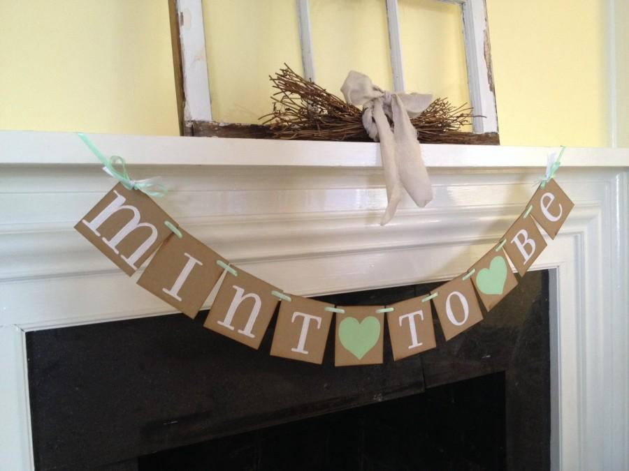 mint to be banner bridal shower decorations wedding banners bachelorette party wedding decorations mint green wedding decor