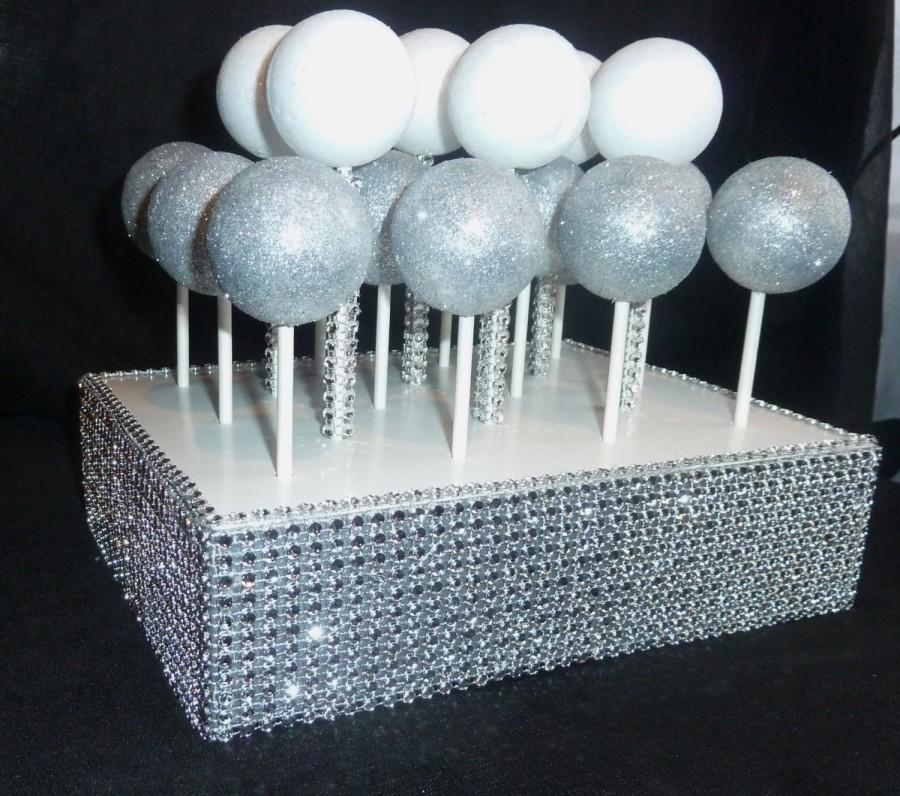 Bling Faux Rhinestone Cake Pop Stand Display Holder Lollipop Stand