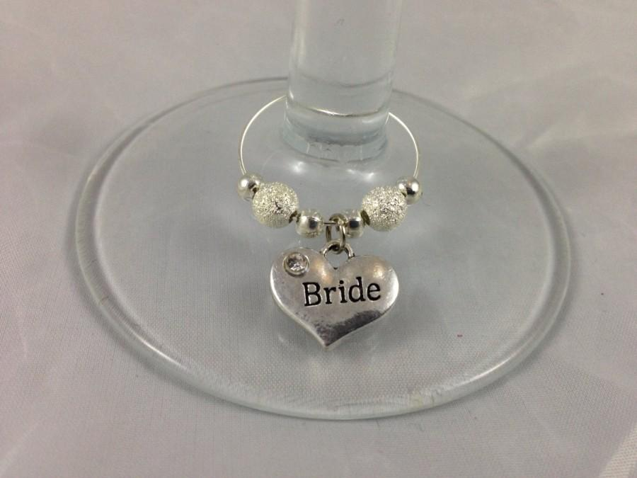 Wedding Wine Glass Charms. Top Table Decoration In A Choice Of ...