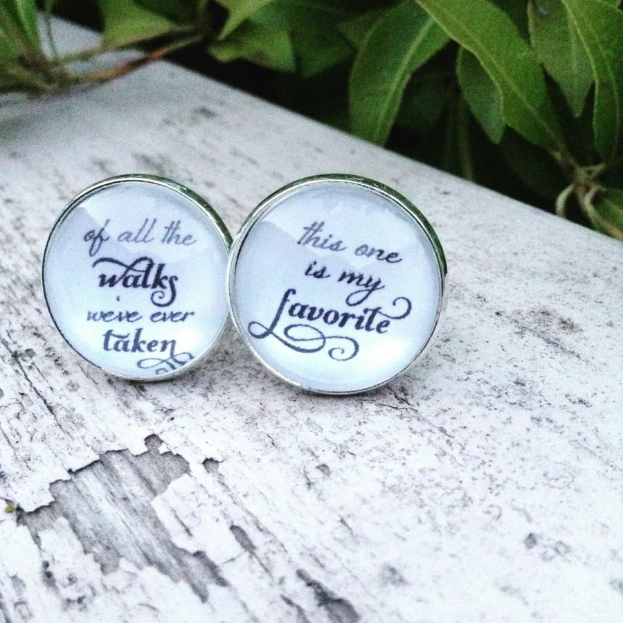 Mariage - Father of the Bride Cuff Links , Of all the Walks we've taken This One is my Favorite Wedding Cufflinks Wedding Bridal Party
