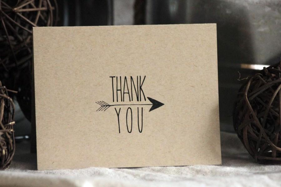 Mariage - Arrow Thank You Cards