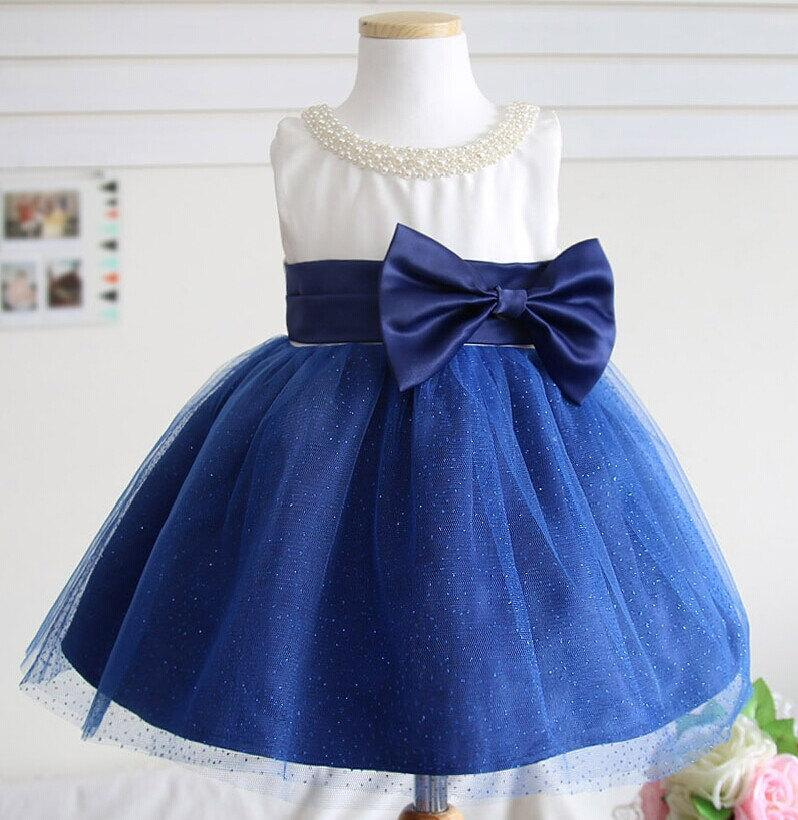 Mariage - Ocean Blue Baby Pageant Dress, Infant Pageant Dress, Birthday Dress for Girls, Flower Girl Dress, XR0008