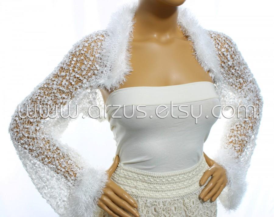 ad389aadf8 White Wedding Shrug Bridal Shrug Knit Shrug Bridesmaid Gift Evening Shrug  Bridal Bolero Jacket Bridal Cover Up Wrap Shawl Weddings Clothing