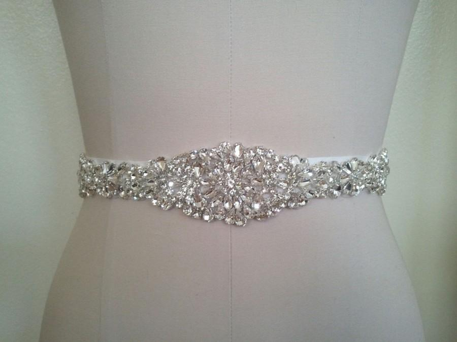 Свадьба - Wedding Sash Belt, Bridal Sash Belt - Crystal Sash Belt