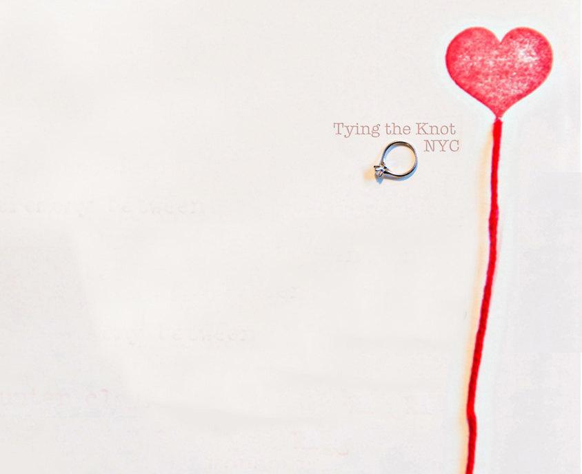 Hochzeit - tyingtheknotnyc custom letterpress wedding invitation order - Deposit Listing